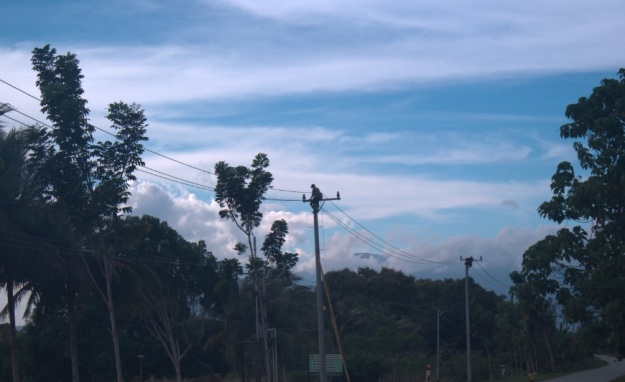 Supporting Team Pembangunan Jaringan Holtekam skouw Perbatasan RI PNG7