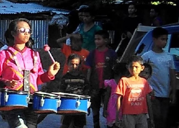 Pawai Pembangunan atraksi Drum band2