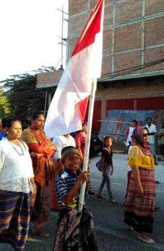 Pawai Pembangunan Parade Bendera Merah Putih2