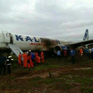 foto kecelakaan pesawat Kalstar1